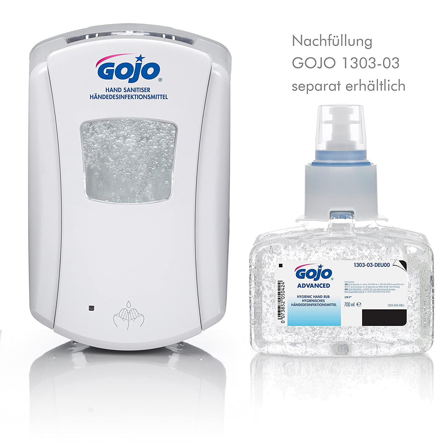 Gojo 1320 - 04 LTX de 7 dispensador de desinfectante con sensor, color blanco: Amazon.es: Industria, empresas y ciencia