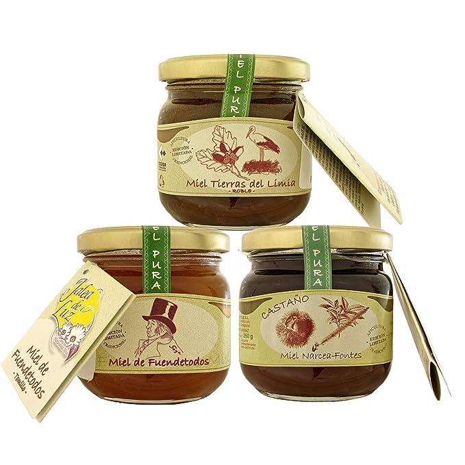 Pack de 3 botes de miel pura/cruda - formato 250gr. c/u; de ...