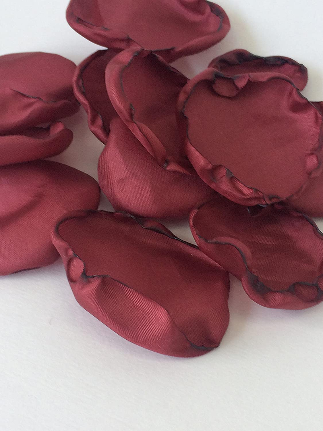 (50) Handmade burgundy/ wine satin fabric flower petals- wedding toss, flower girl, aisle decor, satin petals, bendy blossoms bendyblossoms 91JLaGqDDnL