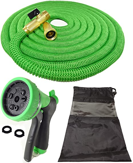 DT ULTRALIGHT Garden Hose NEVER KINKS With SOLID BRASS Fittings And Valves,  NO LEAKS,