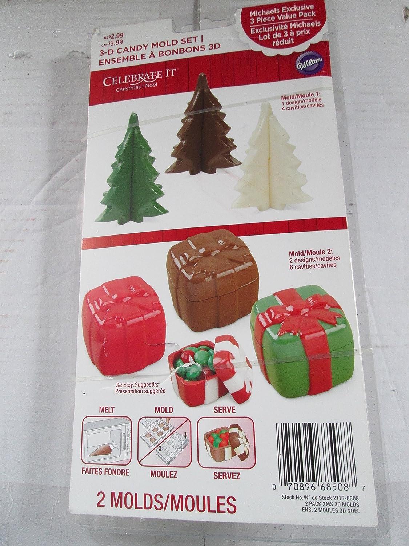 Celebrate it Christmas plastic 3-D Christmas Tree & Lidded