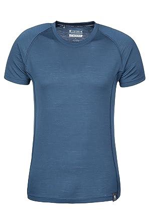 a9cef8aa2 Mountain Warehouse Summit Mens Merino Baselayer T-Shirt – Extra Warm Wool,  Round Neck