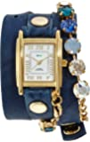 [ラ・メール コレクションズ]LA MER COLLECTIONS 腕時計 TEAL SUNSET SWAROVSKI ホワイト文字盤 ラム革ベルト LMSCW1503 レディース 【正規輸入品】