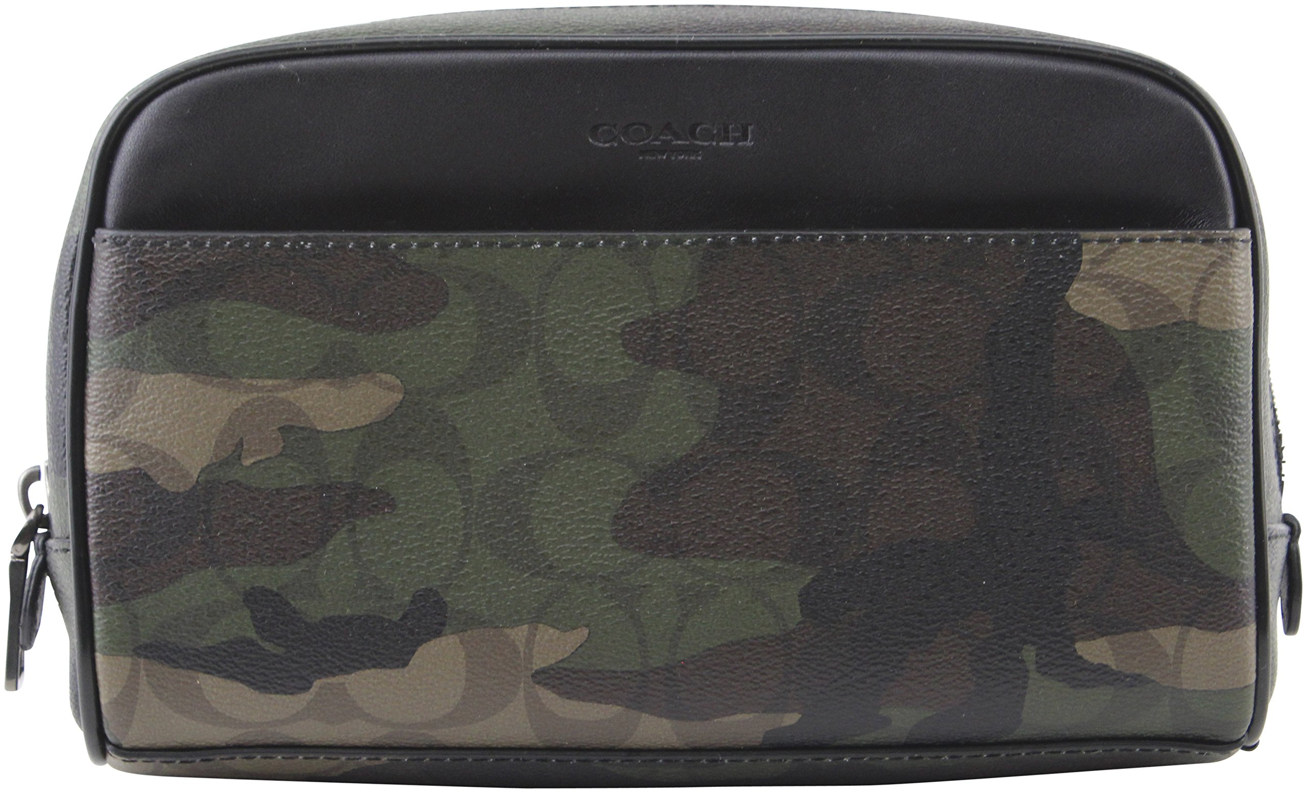 Coach Overnight Travel Kit in Signature Camo Coated Canvas Bag, Style F12008, Mahogan/ Dark Green Camo by Coach (Image #1)