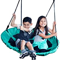 """Jump Frog USA GIANT 40"""" SUPER SAUCER DISC TREE SWING by JUMP FROG, Weather Resistant Fabric, Easy to Assemble with Step by Step Directions, Year Round Outdoor Fun, Pick Your Color"""