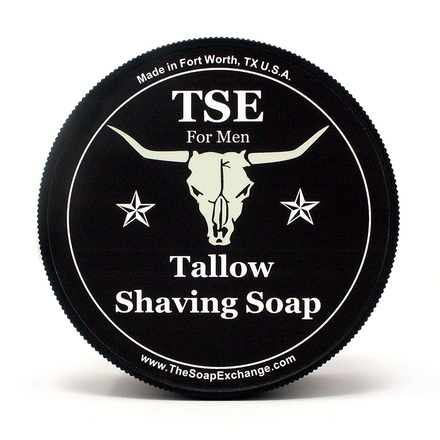 TSE for Men Cherry Bomb Shaving Soap with Tallow and Shea Butter. Natural Ingredients for Rich Lather and a Smooth Comfortable Shave. Artisan 4.5 oz Semi-Soft Italian Style. Made in the USA. The Soap Exchange