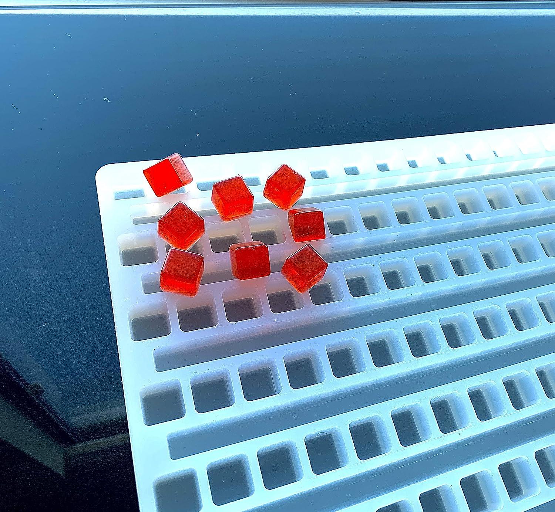 2.5 mL Square Gummy Mold - Universal Depositor - 176 cavity