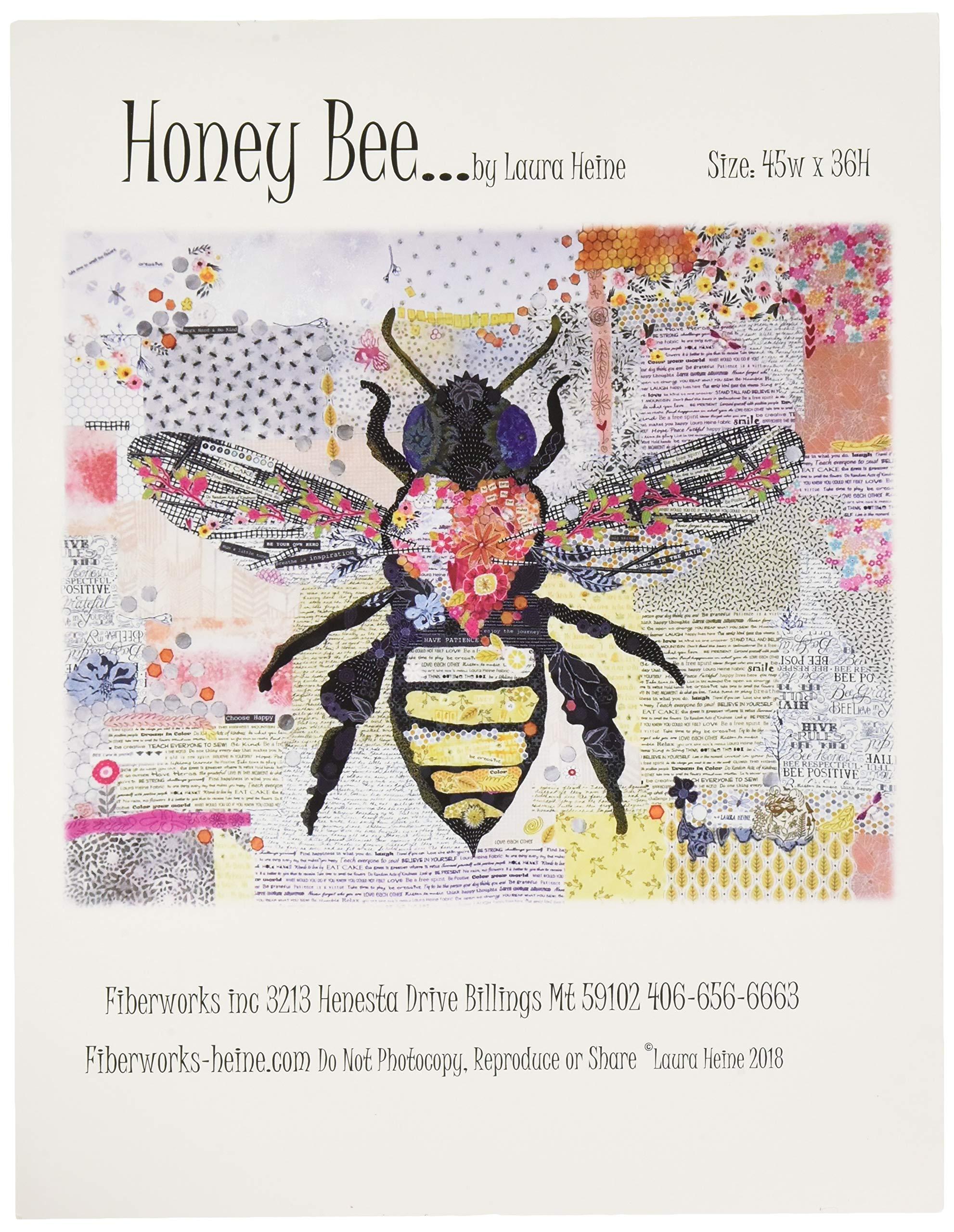Fiberworks LHFWHBEE Honey Bee Collage Pattern by Fiberworks