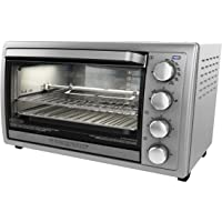Black+Decker Toaster Oven, 6 Slice, Convection Oven, 5 Functions, Stainless Steel,