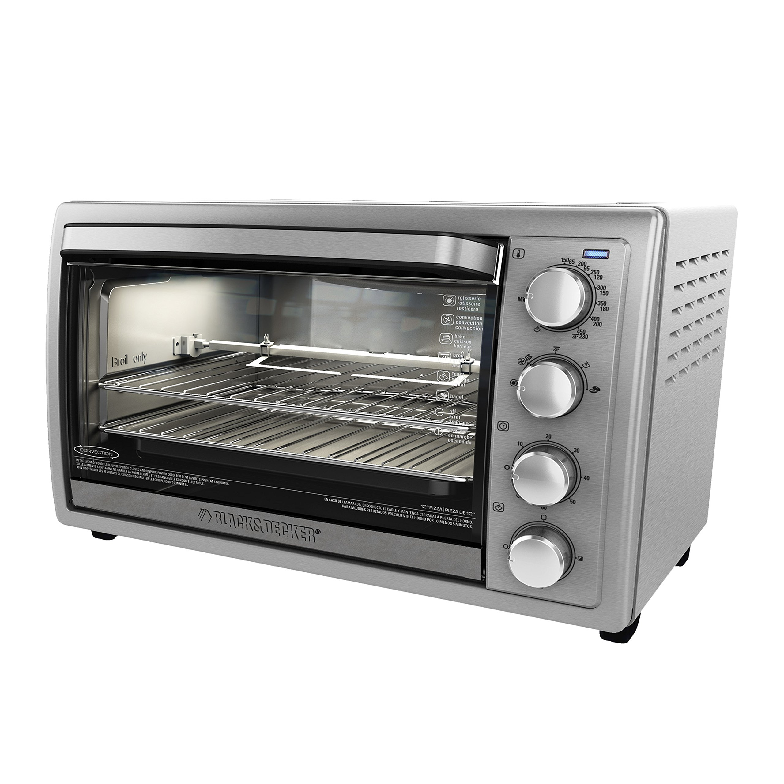 BLACK+DECKER TO4314SSD WCR-076 Rotisserie Toaster Oven, 9X13, Silver by BLACK+DECKER