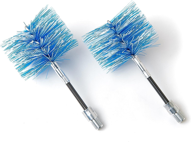 BARETTO - 2 cepillos de repuesto - Cepillos FLEX 80mm, Cepillo de limpieza de estufas de pellets y tubos de humos