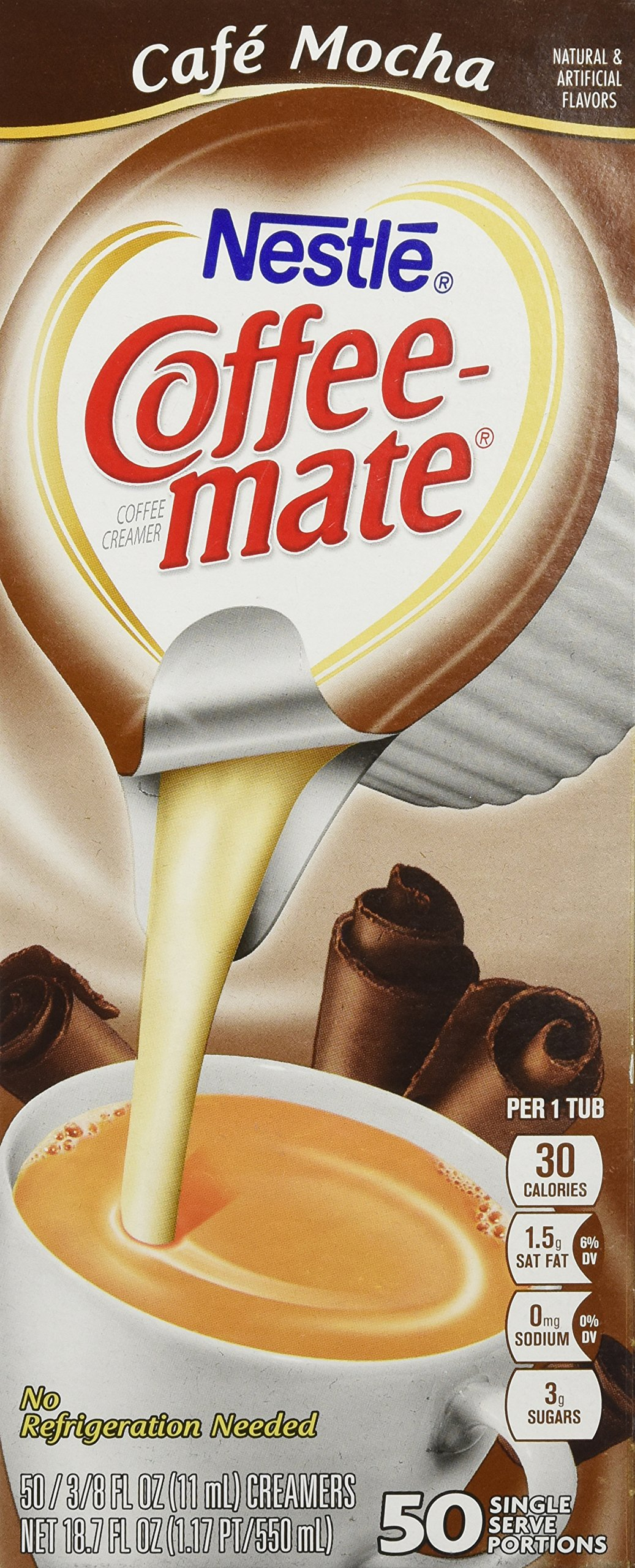 Coffee-mate Liquid Creamer Singles - Cafe Mocha - 50 ct