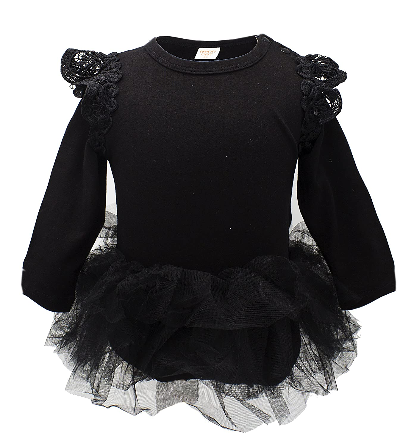 6f298c430 Super adorable baby girl long sleeve ruffle cotton romper with tulle tutu  skirt makes your baby girl comfortable and fashionable