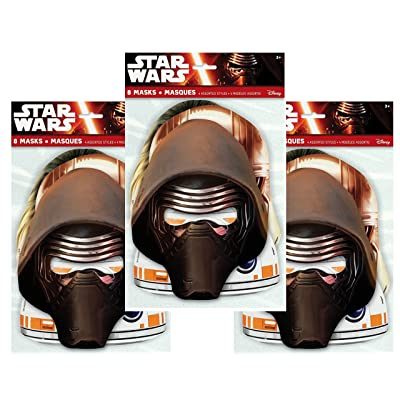 Star Wars Party Masks, 8ct (Three Pack): Toys & Games