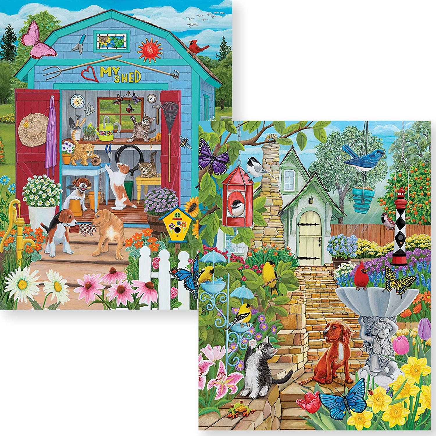 Bits and Pieces - Value Set of Two (2) 1000 Piece Jigsaw Puzzles for Adults - Each Puzzle Measures 20