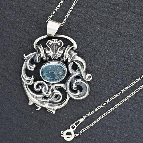 Sterling Silver Bezel Bend Necklace