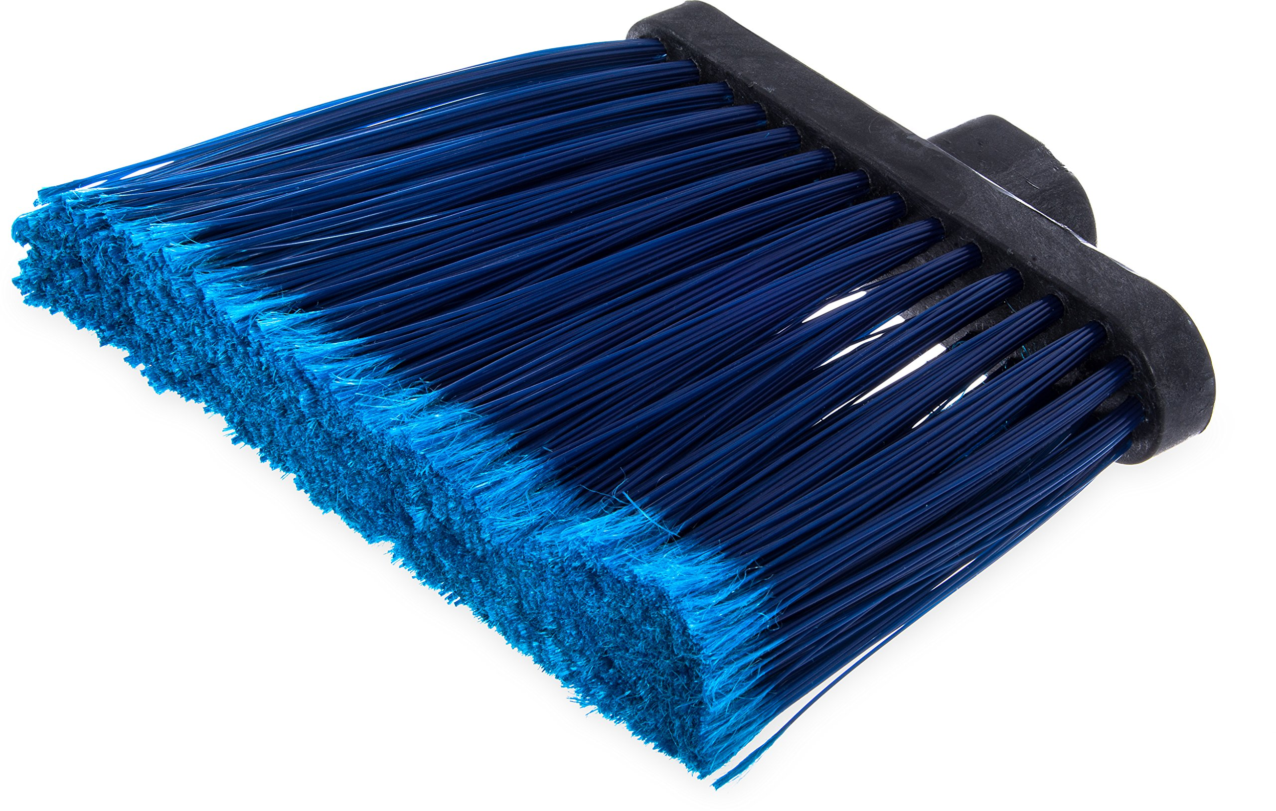 Carlisle 3686714 Duo-Sweep Medium Duty Flagged Angle Broom Head, Polypropylene Bristle, 8'' Overall Length x 12'' Width, Blue (Pack of 12)