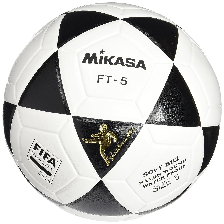 99990aa6d Amazon.com : Mikasa FT5 Goal Master Soccer Ball (White/Black, Size 5) :  Sports & Outdoors