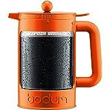 Bodum Bean - Iced Coffee Maker Set with Locking Lid - 1.5l/51oz/12 Cup - Orange