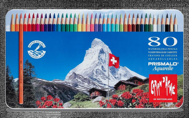 Caran D/'ache Prismalo Watercolour Pencil 18 Colour Tin