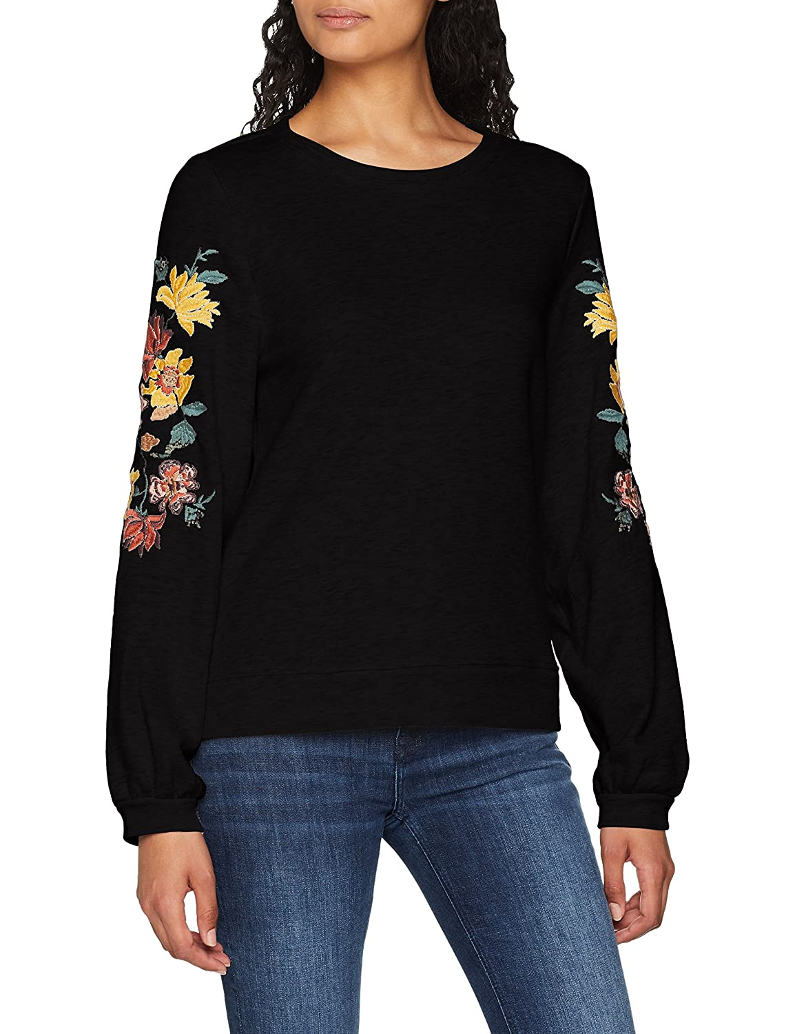 Only Onlanna L/S Embroidery O-Neck Swt Sudadera para Mujer