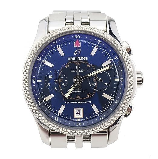 Breitling Bentley - Mark VI Platinum y acero Mens reloj p26362 (Certificado) de segunda mano: Breitling: Amazon.es: Relojes