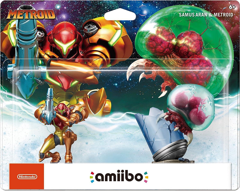 Amazon.com: Amiibo - Samus Aran & Metroid (2-Pack): Video Games