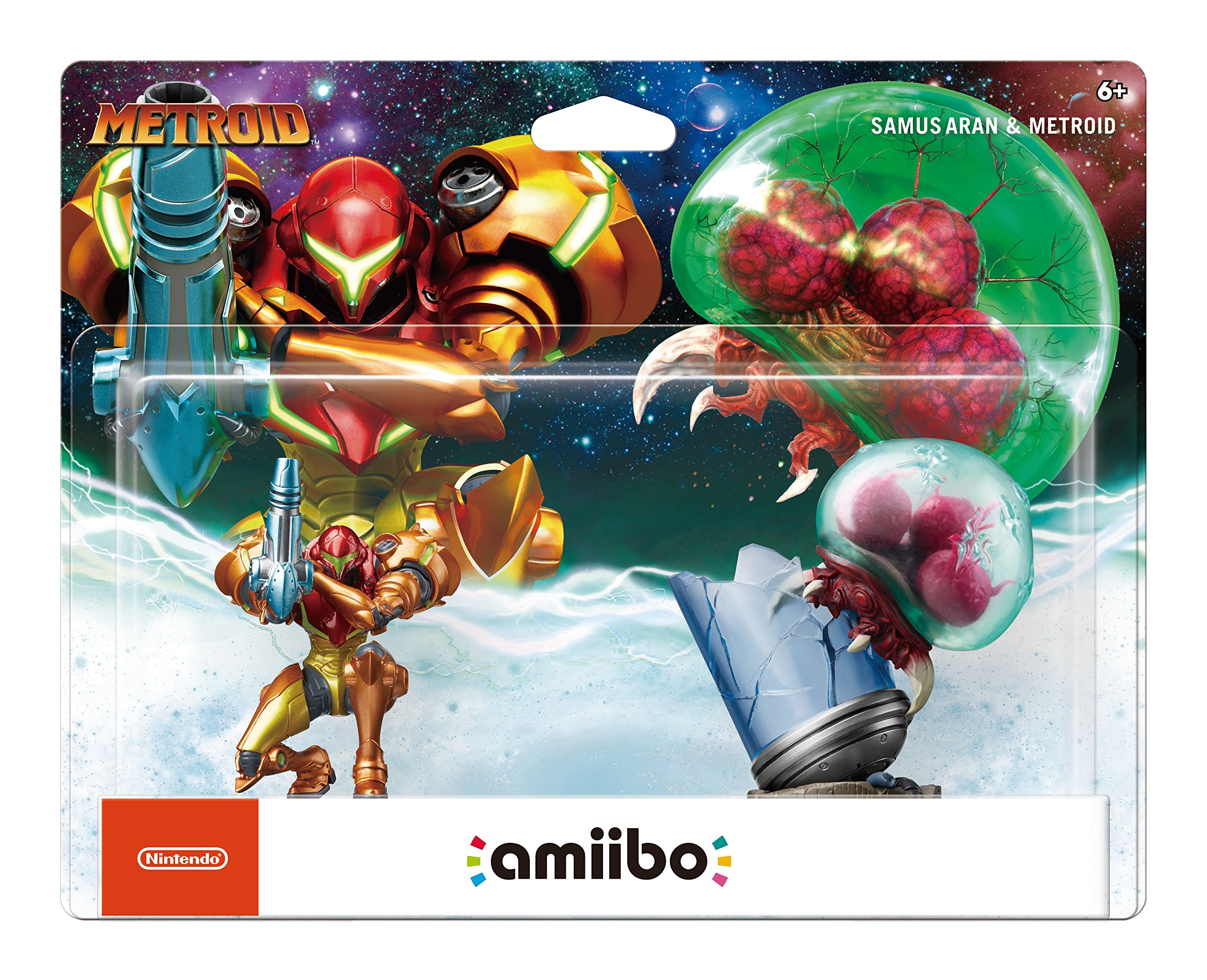 Amiibo - Samus Aran & Metroid (2-Pack)
