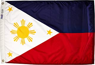 product image for Annin Flagmakers Model 196751 Philippines Flag Nylon SolarGuard NYL-Glo, 2x3 ft, 100% Made in USA to Official United Nations Design Specifications