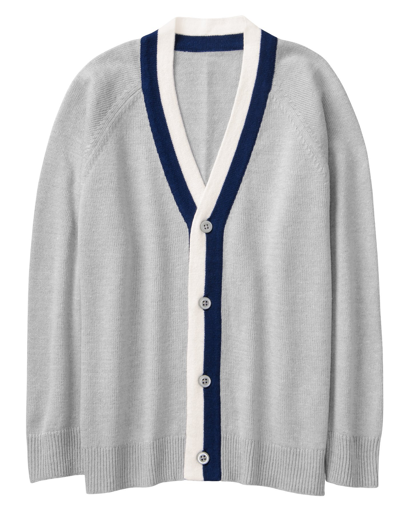 Crazy 8 Boys' Toddler Tipped Cardigan, Dove, 5T
