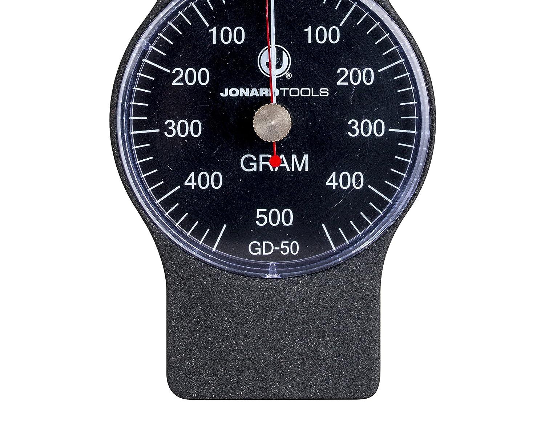 25 grams Graduation +//- 0.01 Accuracy Jonard GD-100 Round Tip Large Force Gauge 100-1000 grams Dial Display