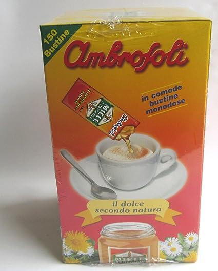 miele monodose  150 Bustine Miele Ambrosoli Dolcificante Espositore Bar:  ...