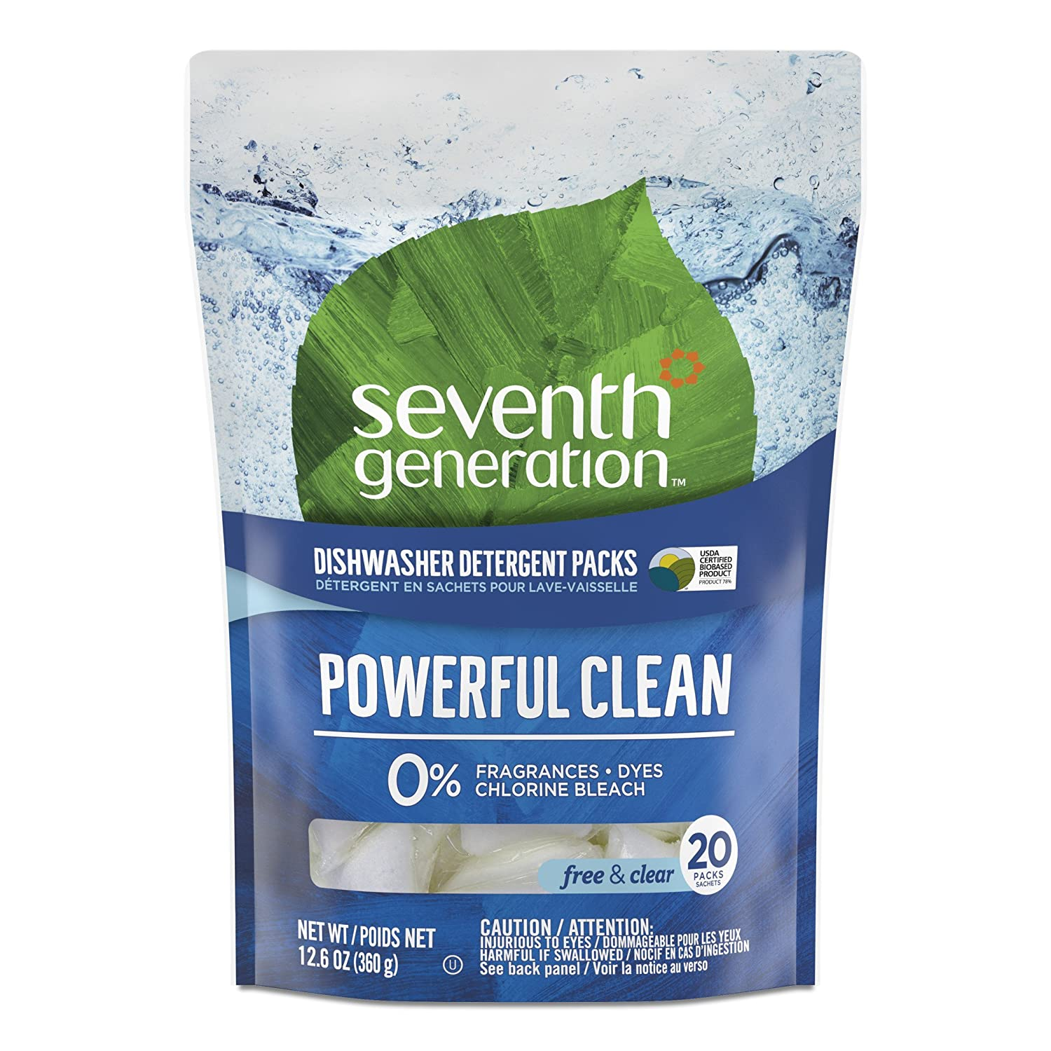 Seventh Generation  Free and Clear Autodish Pack 20 Count Manufacturer 22818