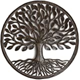Steel Drum Organic Tree of Life 23 x 23 inches Recycled Metal Art from Haiti, Decorative Wall Hanging Fair Trade Federation Certified