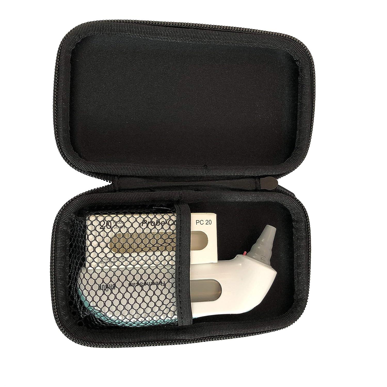 Housse de protection x20 capuchons de rechange gratuits inclus Couleur: Rouge Etui de rangement thermom/ètre auriculaire Braun Thermoscan Sacoche