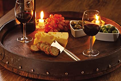 Amazoncom Quarter Barrel Lazy Susan Made From French Wine Barrel