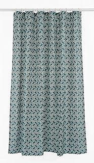 LJ Home Fashions Geometric 177x182cm 70x72 In 14 Piece Metro Shower Curtain