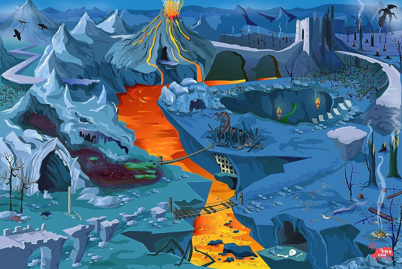 Le Toy Van - Alfombra para Juegos, diseño de volcanes: Amazon.es: Juguetes y juegos