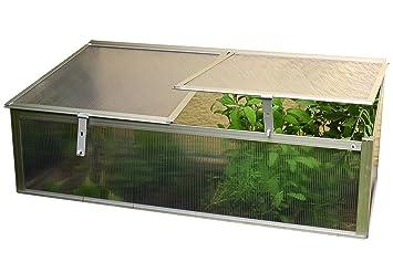 Treibhaus Kleingewächshaus Garten-Aufzucht Aluminium-Frühbeet einfach 0,57 m²