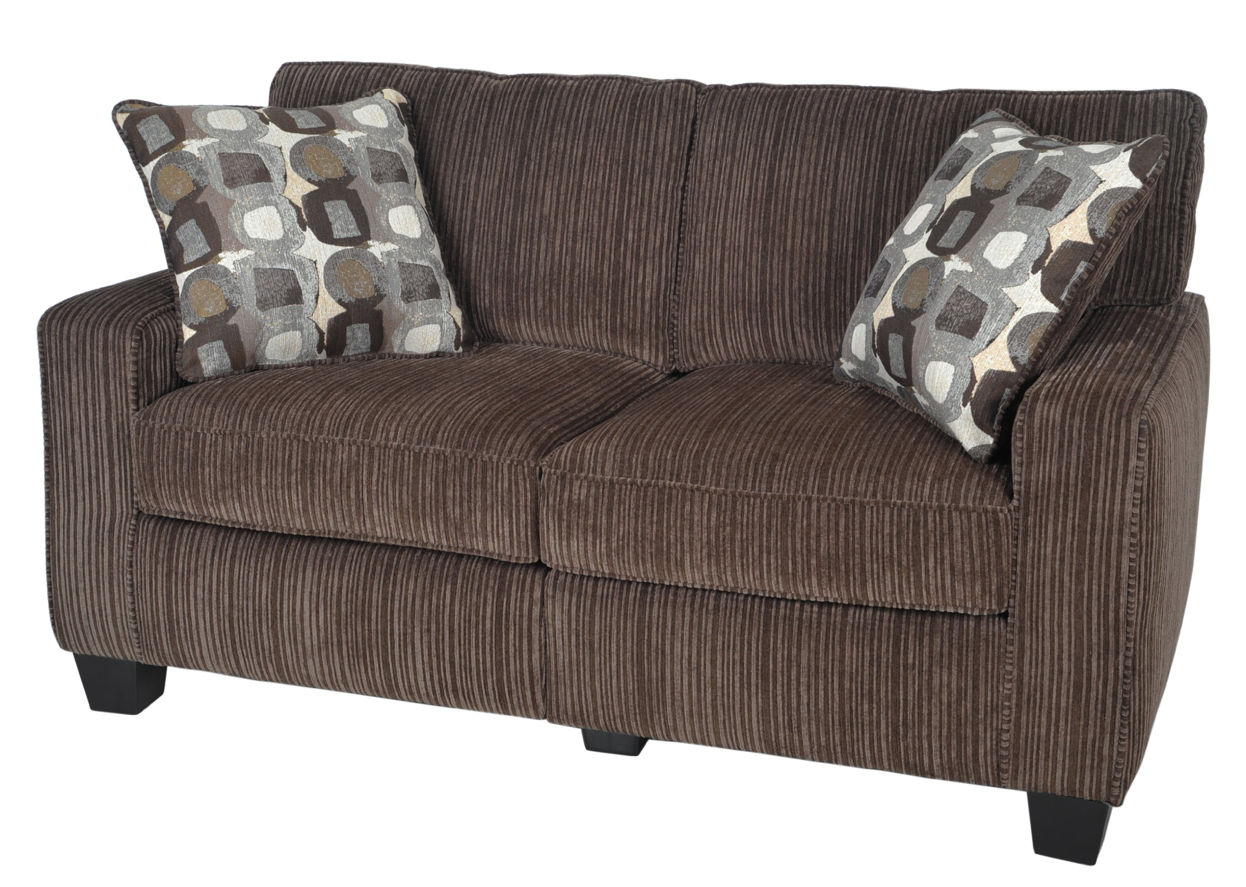 Serta RTA Palisades Collection 61'' Loveseat in Riverfront Brown by Serta (Image #7)