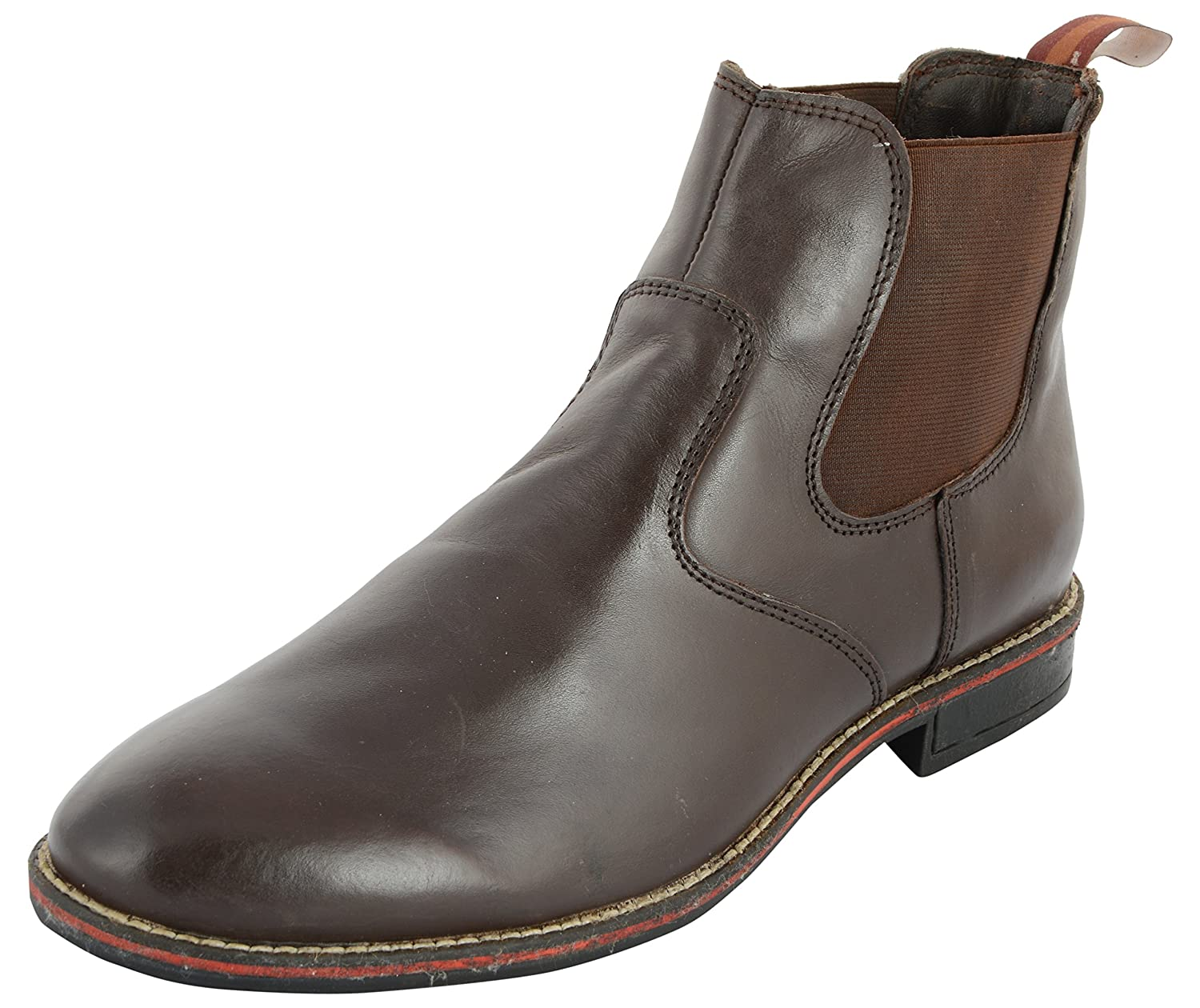 Urban Touch Men S Brown Leather Chukka Boots 7 Uk Buy Online At
