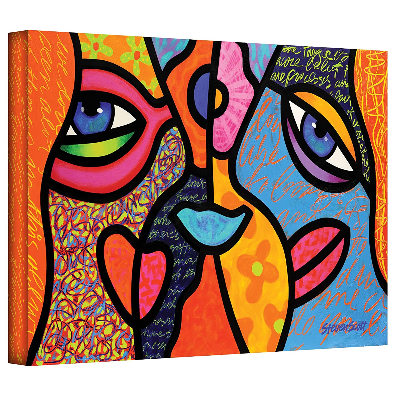 Art Wall Eye to Eye Gallery Wrapped Canvas Art by Steven Scott, 12 by 18-Inch
