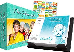 The Golden Girls 2021 Calendar, Box Edition Bundle - Deluxe 2021 Golden Girls Day-at-a-Time Box Calendar with Over 100 Calendar Stickers (Television Show Gifts, Office Supplies)