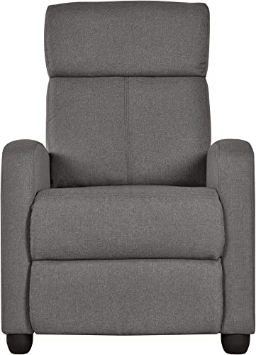 Topeakmart Fabric Recliner Sofa Push Back Recliner Chair Adjustable Modern Single Reclining Chair Upholstered Sofa