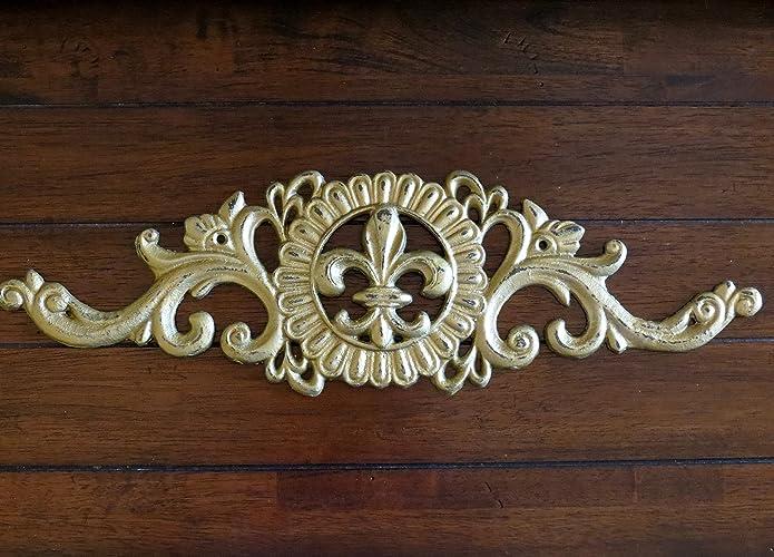 Amazon.com: Fleur de Lis Wall Décor / Antique Gold or Pick Your ...