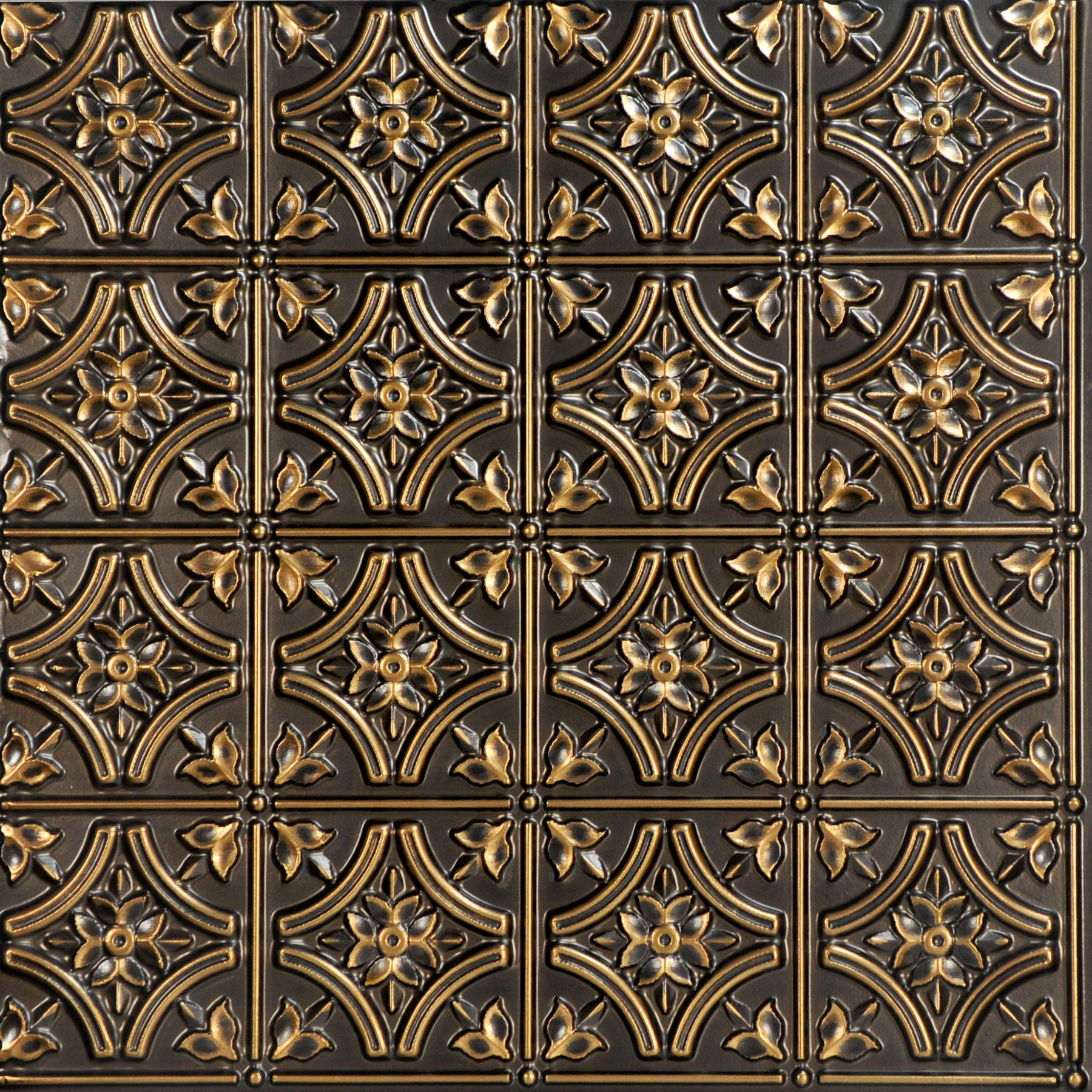 From Plain To Beautiful In Hours 150ag-24x24-25 Gothic Reams Ceiling Tile Antique Gold 25