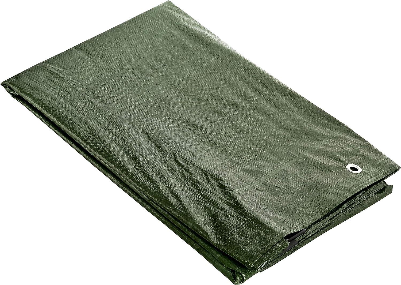 GardenMate 6x10m 140g/m2 Lona de protección prémium verde - Funda ...