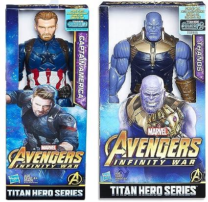 Avengers Big Thanos Toy Marvel Infinity War Titan Hero Series 12 inch Figure