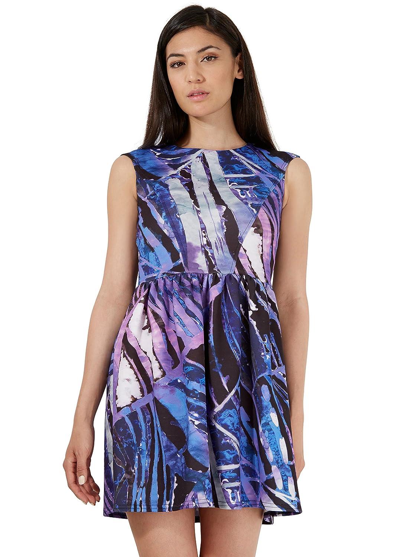 Closet Purple Scuba V-Back Dress