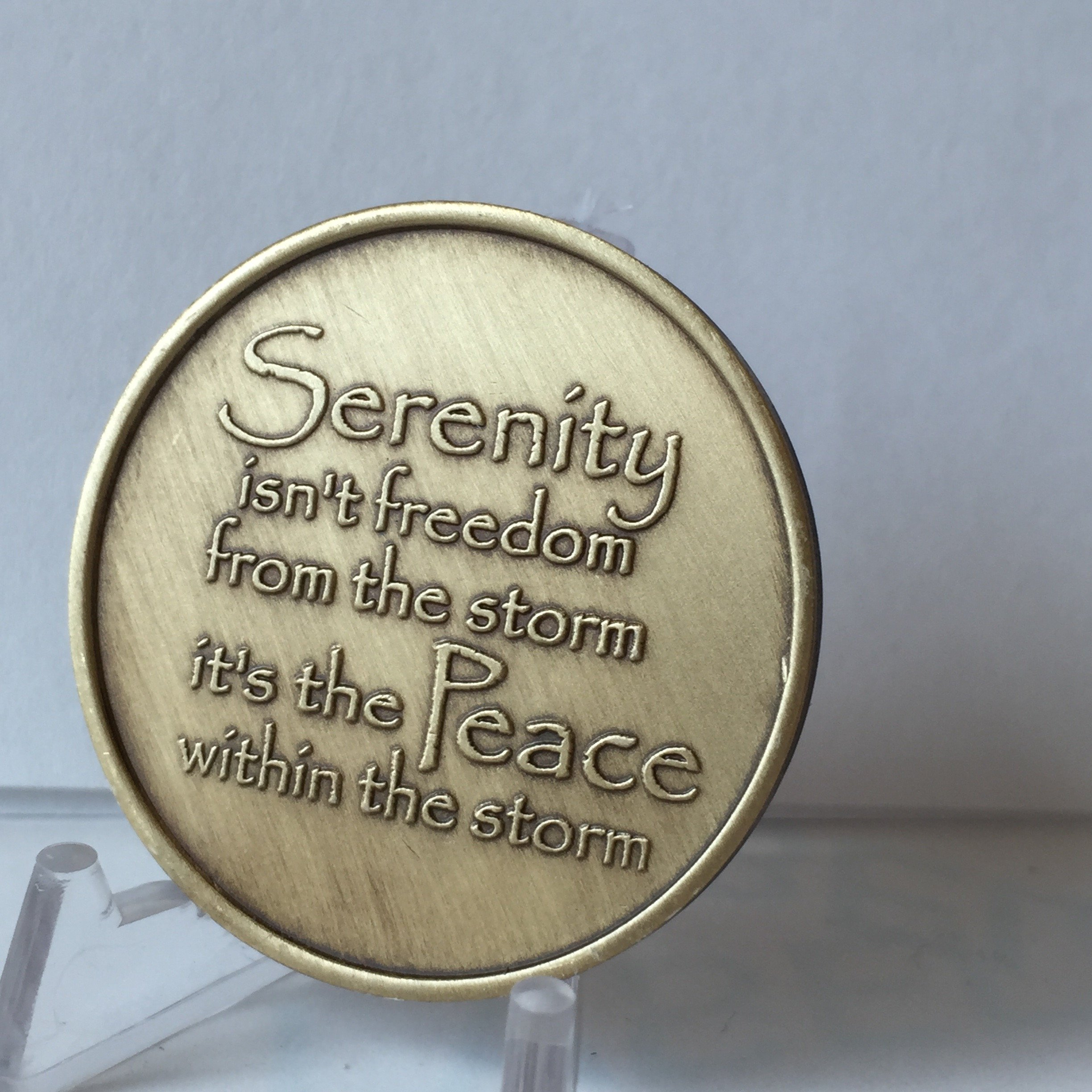 Bulk Lot of 25 Serenity Lake Peace Within The Storm Bronze Medallions Chip Wholesale Set by RecoveryChip (Image #8)